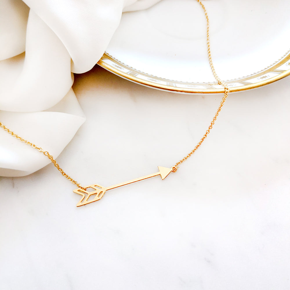 Load image into Gallery viewer, Arrow Boho Necklace Gold / Silver - Shany Design Studio Jewellery Shop