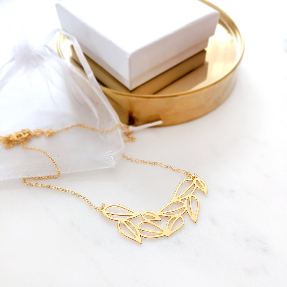 Greek Leaves Necklace Gold / Silver - Shany Design Studio Jewellery Shop