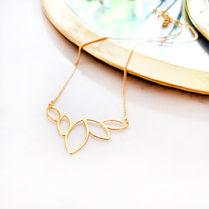 Gold Lotus charm necklace - Yoga jewellery