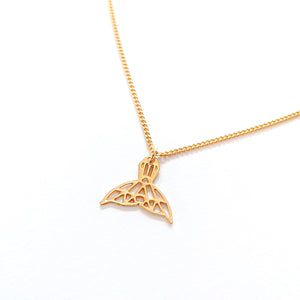 Origami Whale Tail Necklace Gold / Silver - Shany Design Studio Jewellery Shop