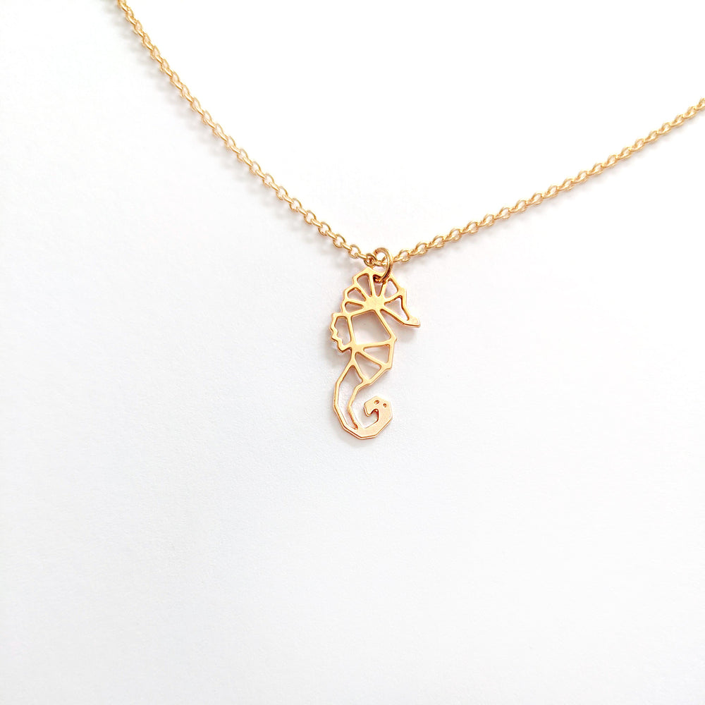 Origami Seahorse necklace Gold / Silver - Shany Design Studio Jewellery Shop