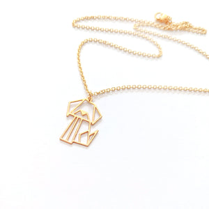 Origami Geometric Dog Necklace Gold / Silver - Shany Design Studio Jewellery Shop