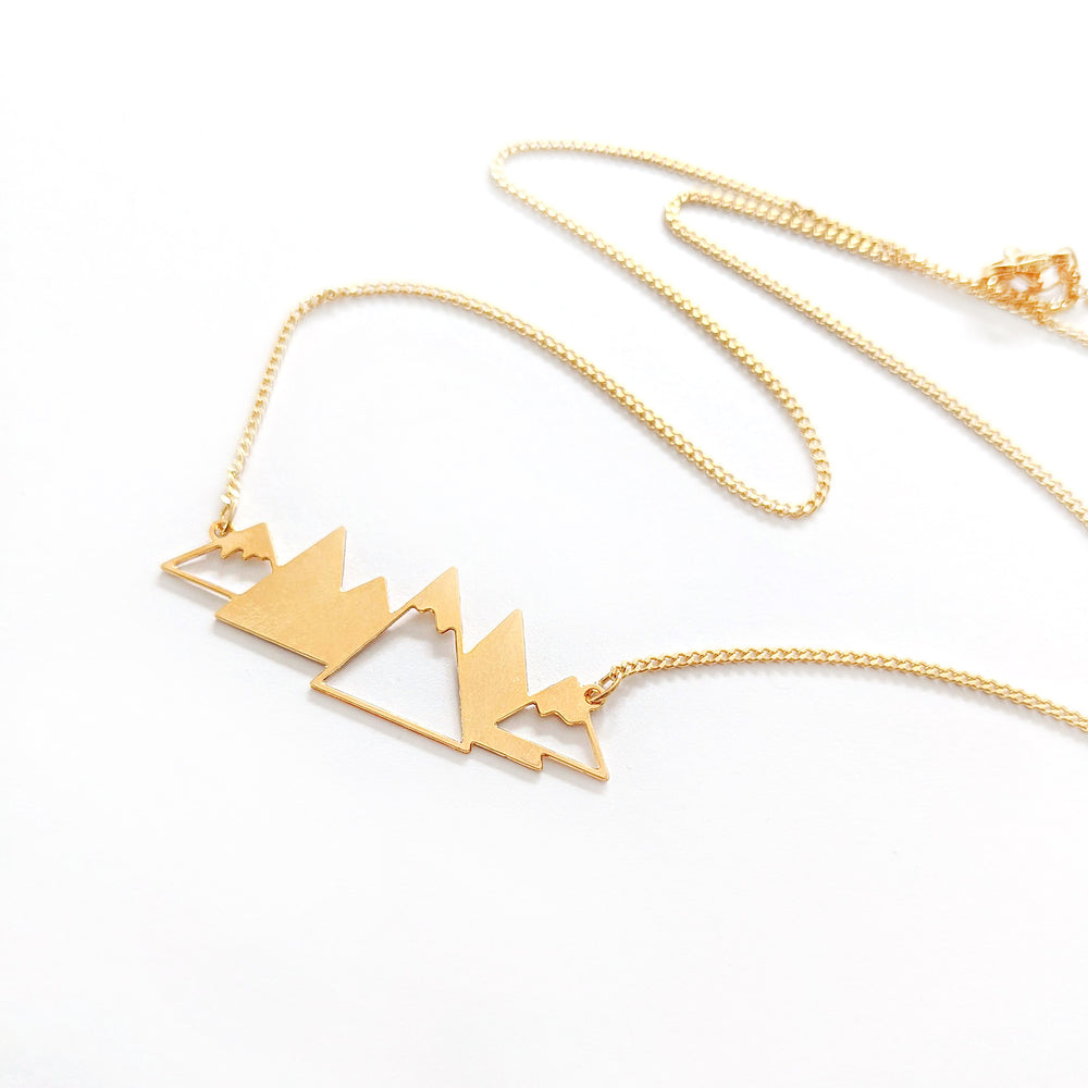 Load image into Gallery viewer, Mountains Necklace Gold / Silver - Shany Design Studio Jewellery Shop