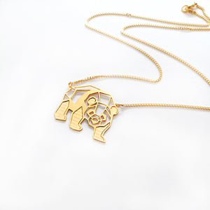Origami Panda Necklace Gold / Silver - Shany Design Studio Jewellery Shop