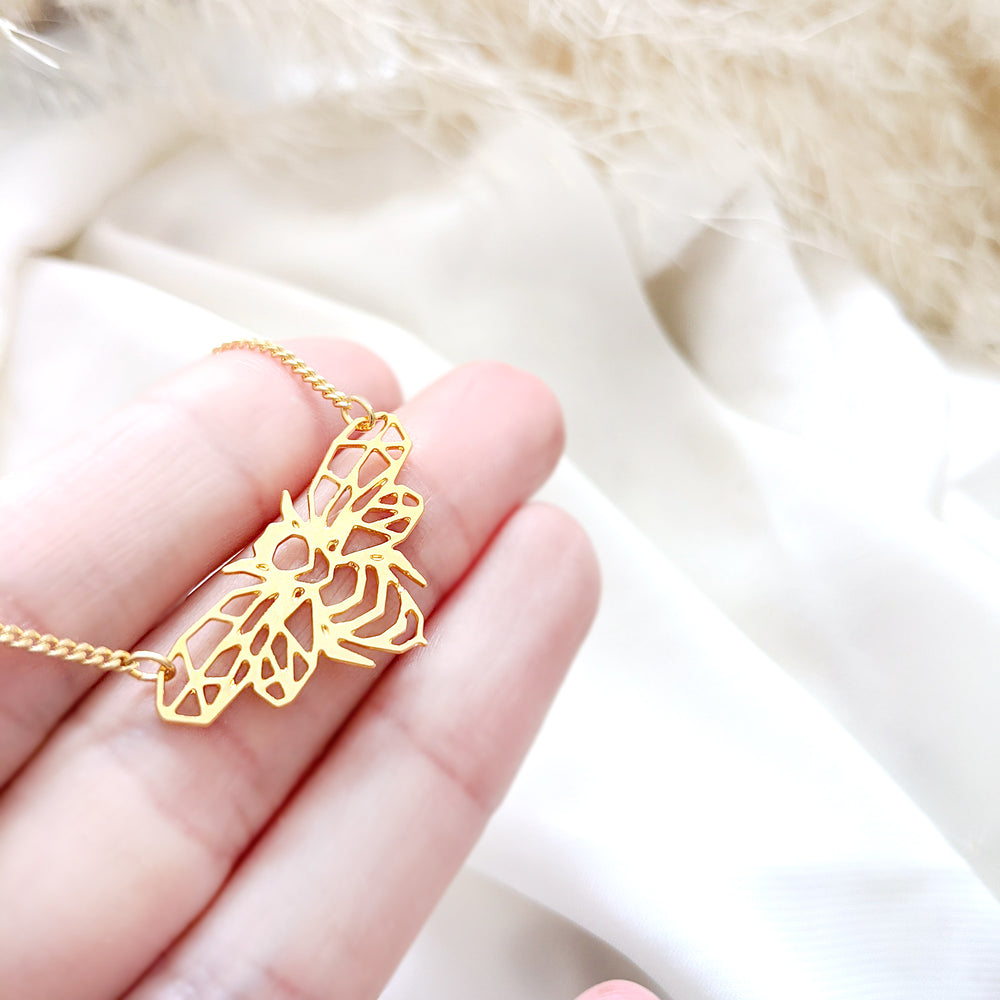 Bee  Insect Necklace Gold / Silver - Shany Design Studio Jewellery Shop
