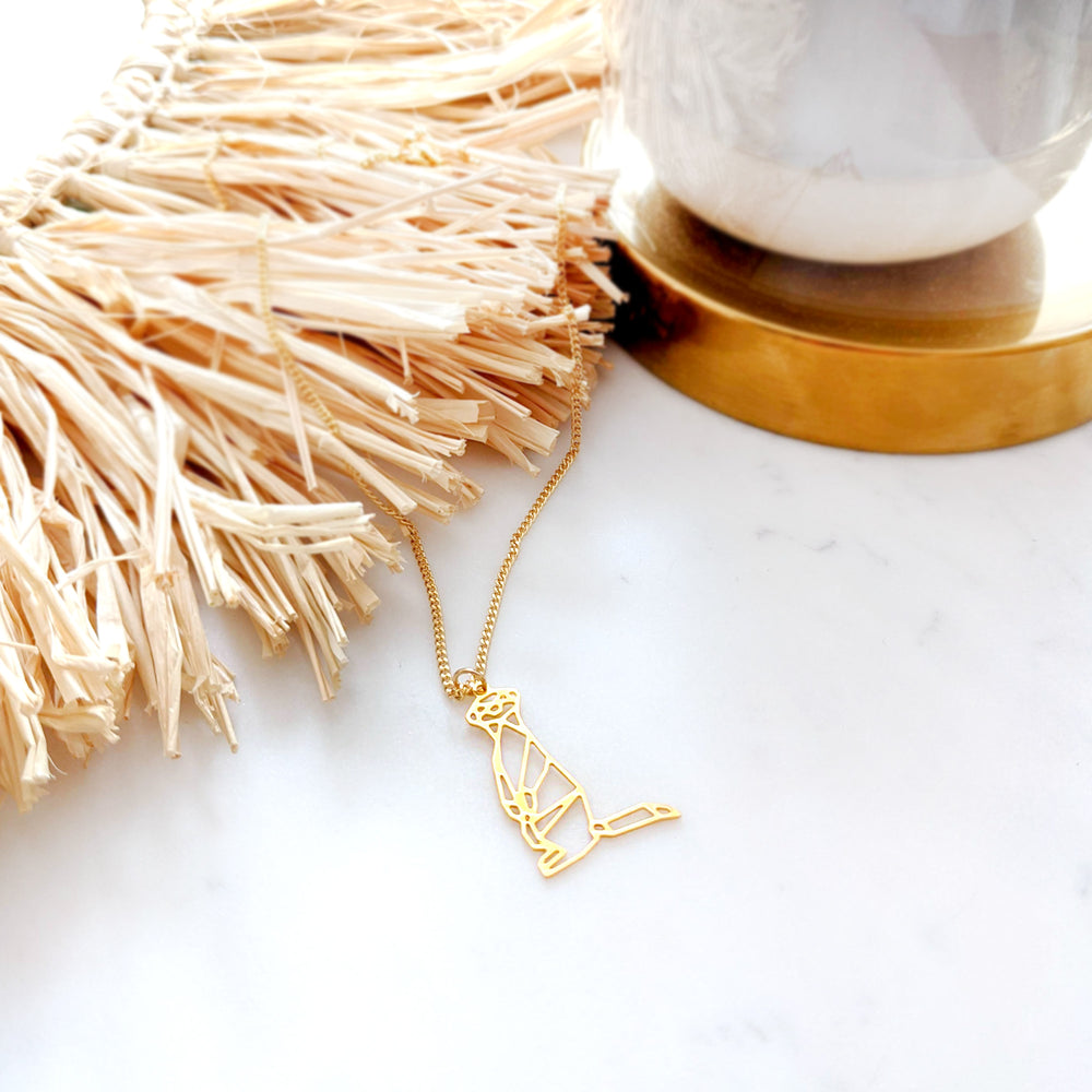 Meerkat Necklace Gold / Silver