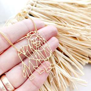 Geometric Lion necklace Gold / Silver - Shany Design Studio Jewellery Shop