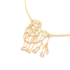 Load image into Gallery viewer, Geometric Lion necklace Gold / Silver - Shany Design Studio Jewellery Shop