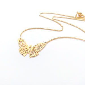 Geometric Butterfly Necklace Gold / Silver - Shany Design Studio Jewellery Shop