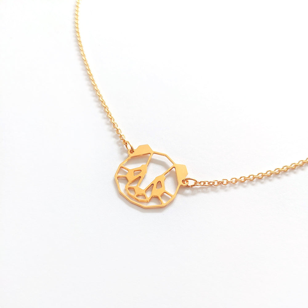 Load image into Gallery viewer, Origami Panda Face Necklace Gold / Silver - Shany Design Studio Jewellery Shop