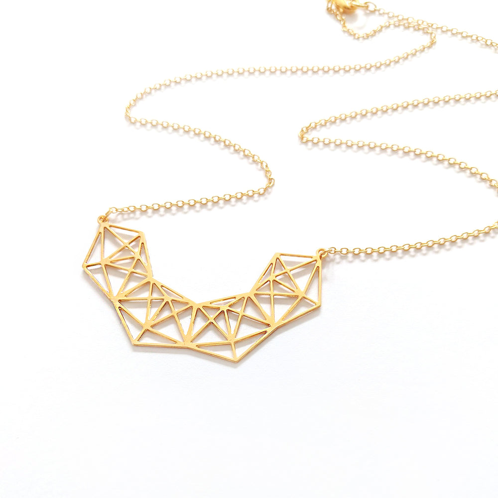 Geometric Statement Sparkle Necklace Gold / Silver - Shany Design Studio Jewellery Shop