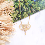Elephant Head Necklace - Gold / Silver Geometric necklace