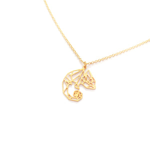 Chameleon Lizard necklace Gold / Silver - Shany Design Studio Jewellery Shop