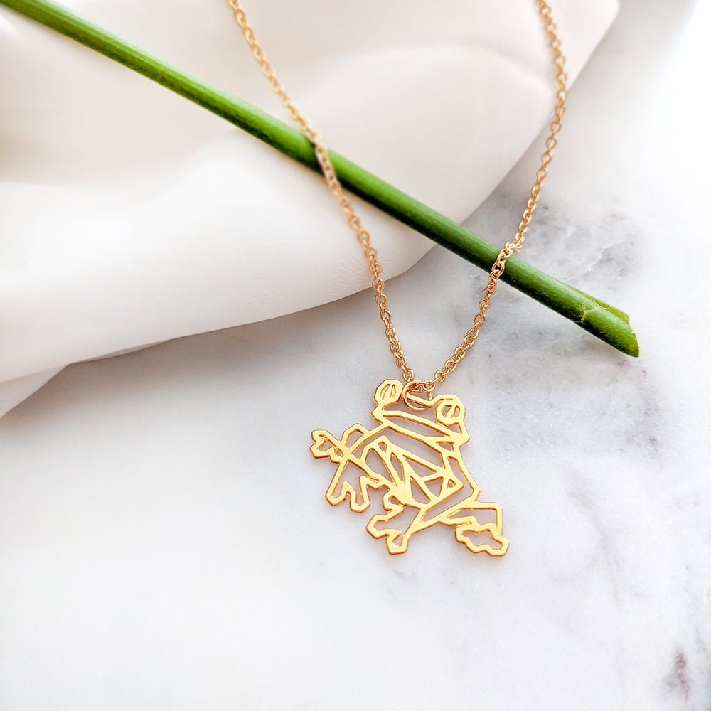 Frog Necklace Gold / Silver