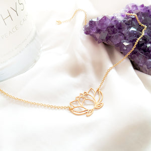 Lotus Flower Necklace Gold / Silver - Shany Design Studio Jewellery Shop