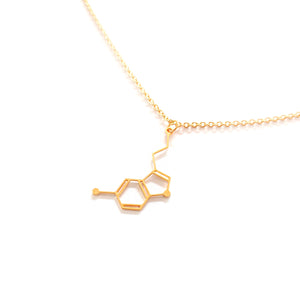 Serotonin Molecule Necklace Gold / Silver - Shany Design Studio Jewellery Shop