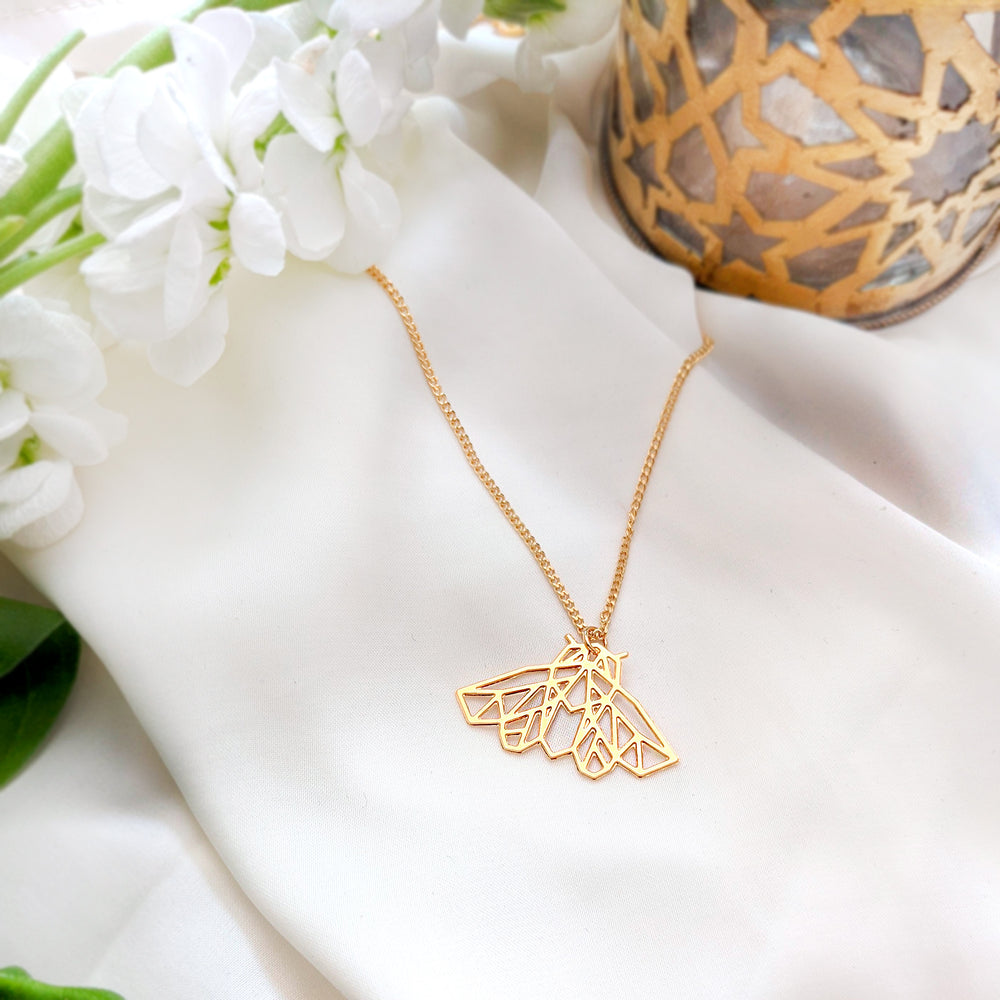 Moth Necklace Gold / Silver - Shany Design Studio Jewellery Shop