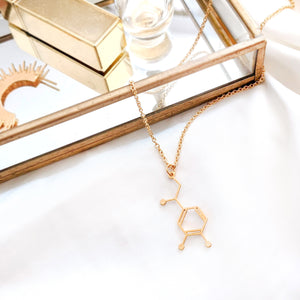 Dopamine Molecule Necklace Gold / Silver - Shany Design Studio Jewellery Shop