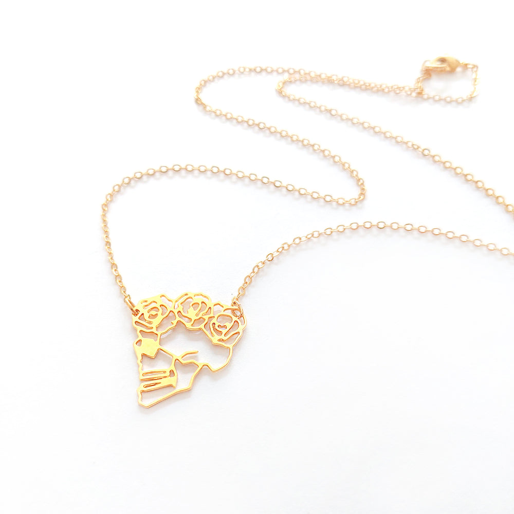Skull Necklace Gold / Silver - Shany Design Studio Jewellery Shop
