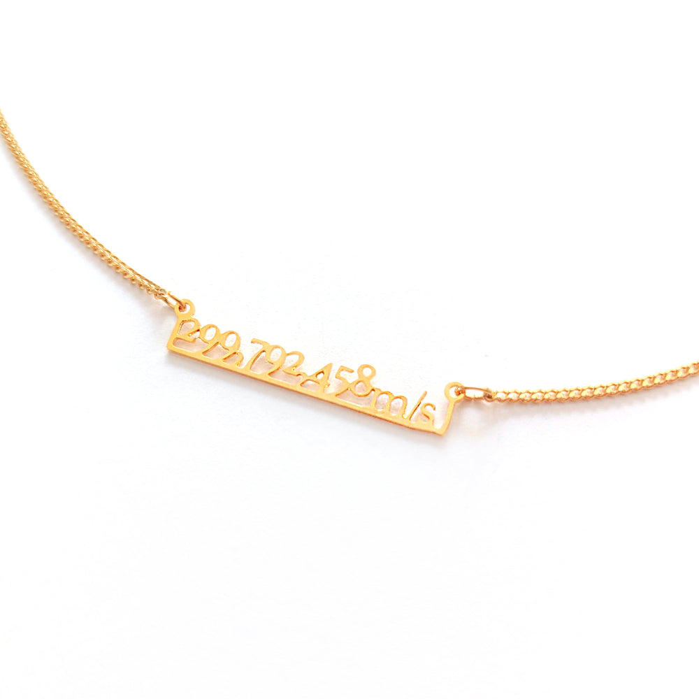 Speed of Light Necklace Gold / Silver