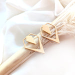 Rhombus ear jacket Gold / Silver - Shany Design Studio Jewellery Shop
