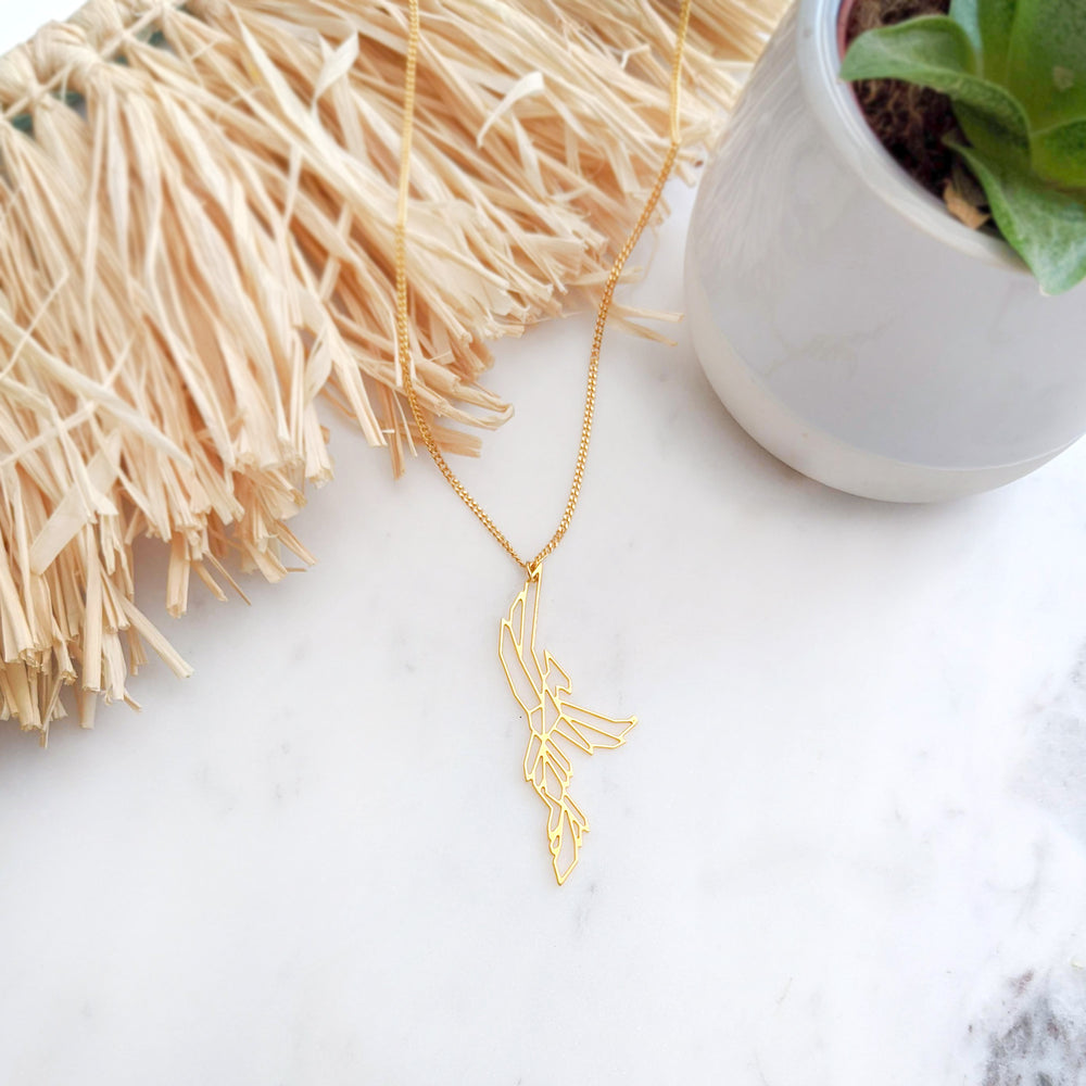 Load image into Gallery viewer, Geometric Phoenix Bird Necklace Gold / Silver - Shany Design Studio Jewellery Shop