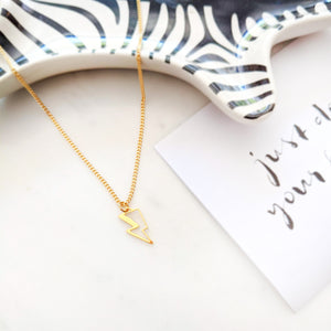 Load image into Gallery viewer, Lightning Bolt Necklace Gold / Silver - Shany Design Studio Jewellery Shop