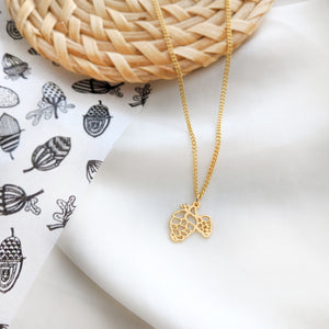 Pinecone necklace Gold / Silver - Shany Design Studio Jewellery Shop