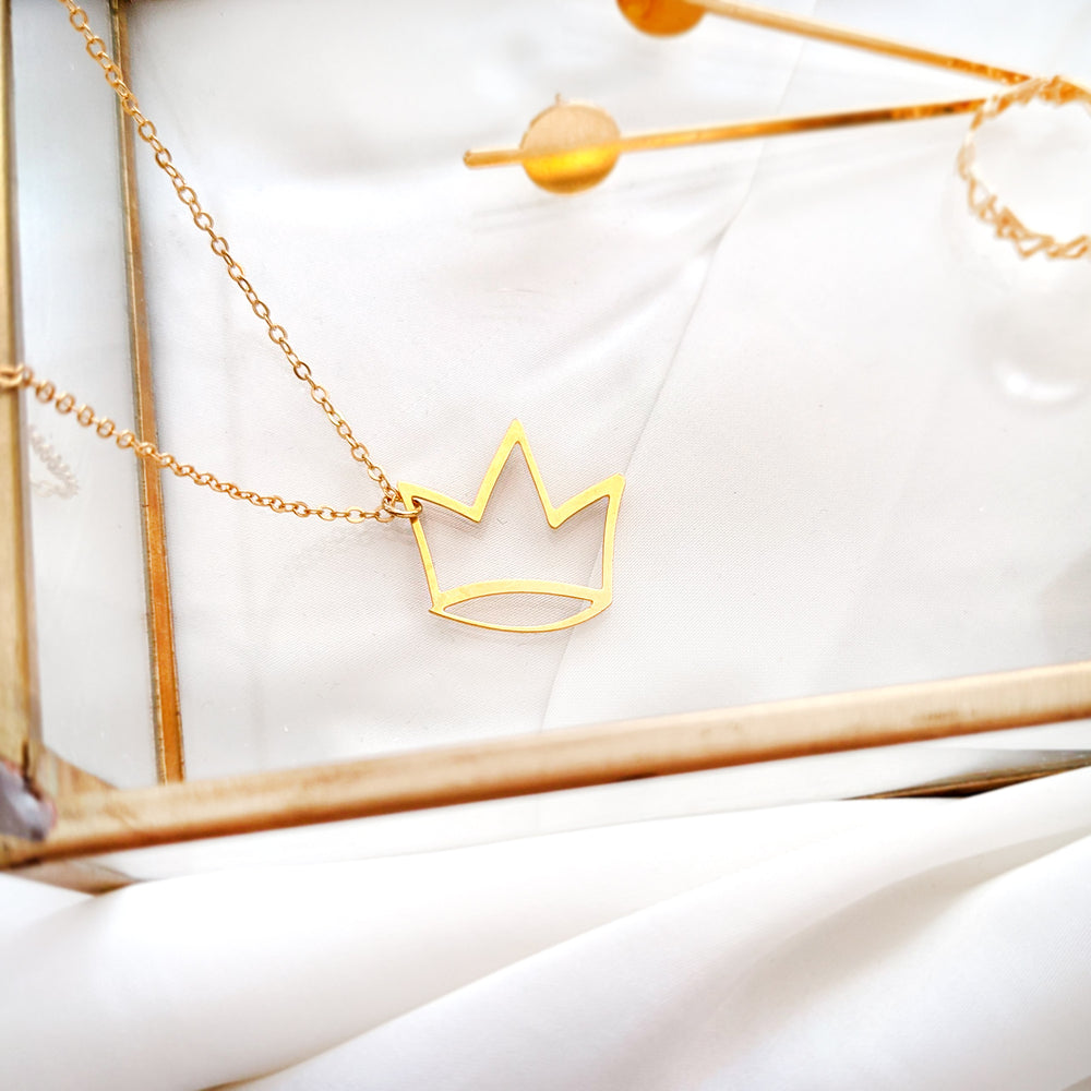 Crown Necklace Gold / Silver - Shany Design Studio Jewellery Shop