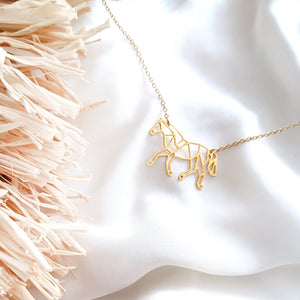 Origami Horse Necklace Gold / Silver - Shany Design Studio Jewellery Shop