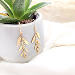 Olive leaf earrings Gold/ Silver
