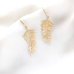 Palm Leaf Earrings Gold/ Silver