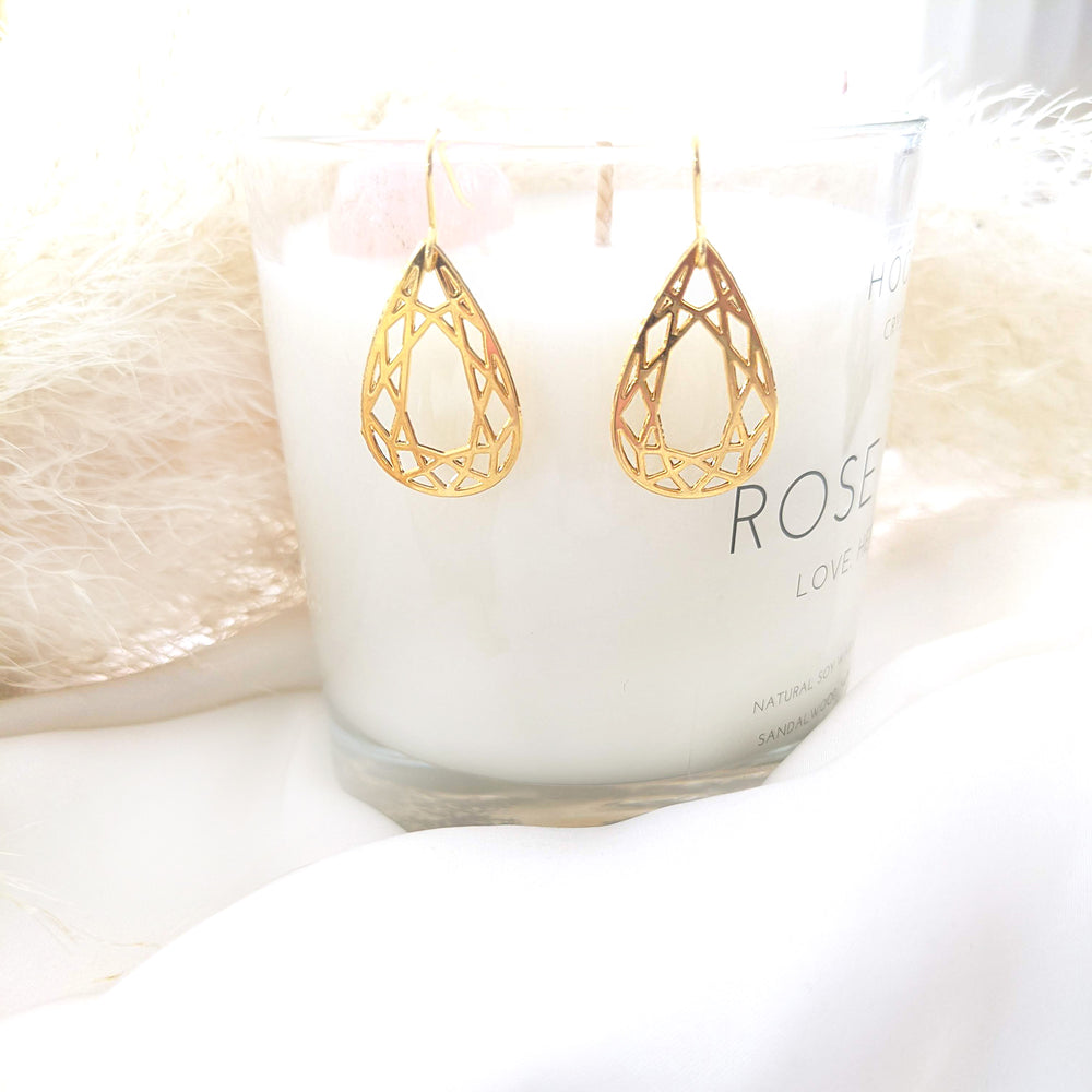 Geometric Teardrop Earrings Gold/ Silver