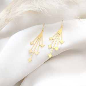 Falling stars Earrings, shooting stars earrings Gold/ Silver - Shany Design Studio Jewellery Shop