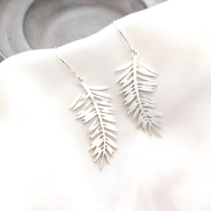 Palm Leaf Earrings Gold/ Silver - Shany Design Studio Jewellery Shop