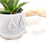 Geometric Teardrop Earrings Gold/ Silver - Shany Design Studio Jewellery Shop