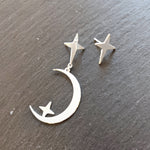 Tiny star silver stud