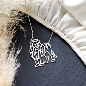 Geometric Lion necklace Gold / Silver