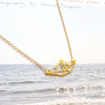 Boat Origami Necklace Gold / Silver
