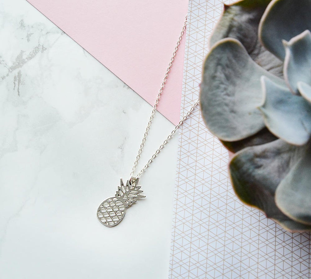 Pineapple Necklace Gold / Silver - Shany Design Studio Jewellery Shop