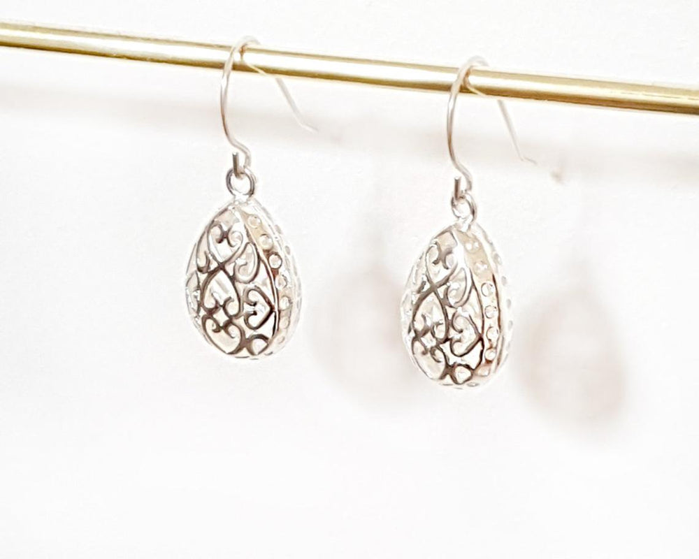 Filigree drop earrings Gold / Silver - Shany Design Studio Jewellery Shop