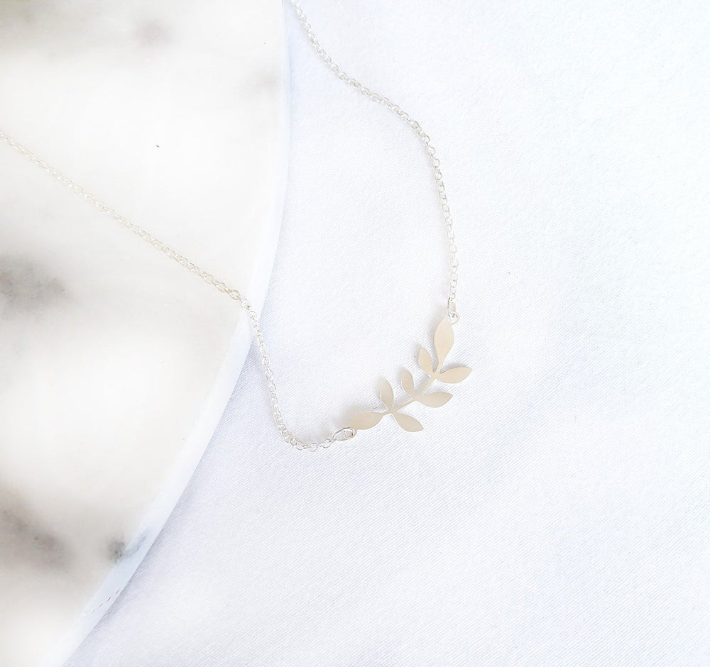 Small Leafs Necklace Gold / Silver - Shany Design Studio Jewellery Shop