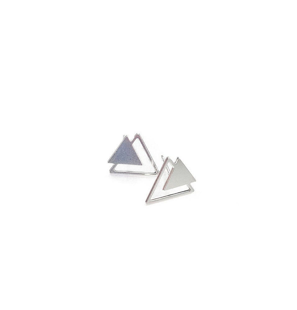Load image into Gallery viewer, Triangle Twain Earrings Gold / Silver - Shany Design Studio Jewellery Shop