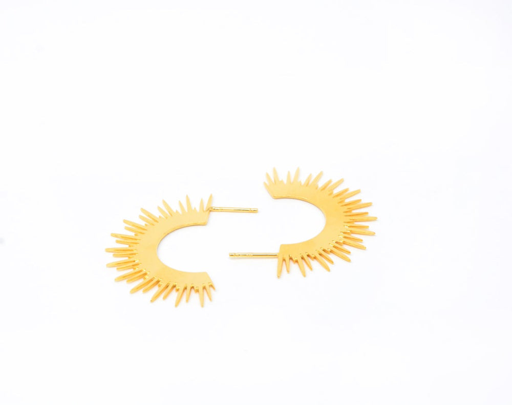 Sun Spicks Gypsy Earrings Gold / Silver - Shany Design Studio Jewellery Shop