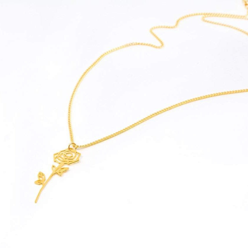 Rose Flower Necklace Gold / Silver - Shany Design Studio Jewellery Shop