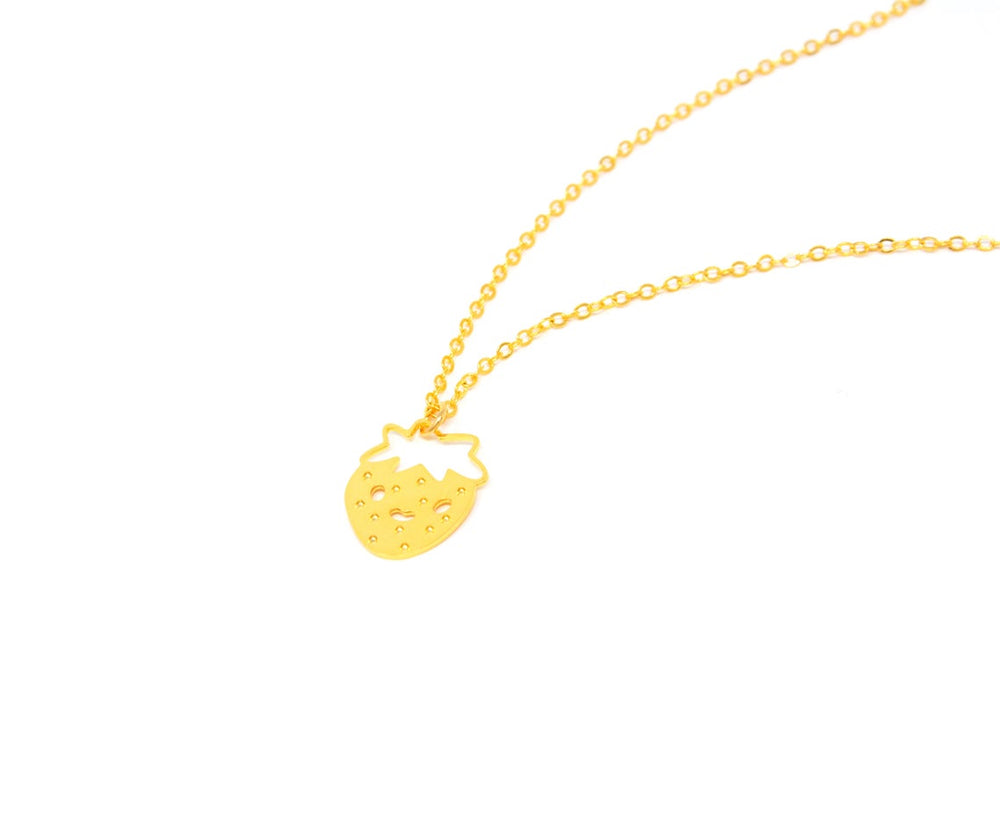 Strawberry Necklace Gold / Silver - Shany Design Studio Jewellery Shop
