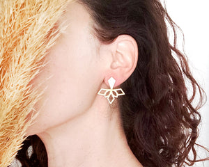 Load image into Gallery viewer, Tribal Geometric Ear Jackets Gold / Silver - Shany Design Studio Jewellery Shop
