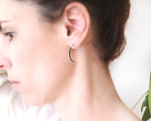 Open Hoop Earrings Gold / Silver - Shany Design Studio Jewellery Shop