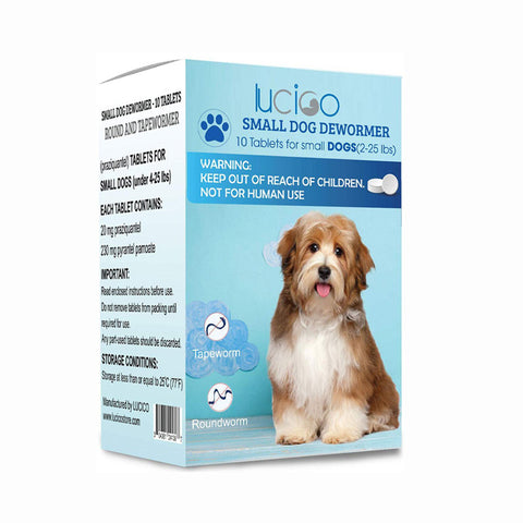 LUCICO Dewormer for Dogs and Puppies - 10 Tablets