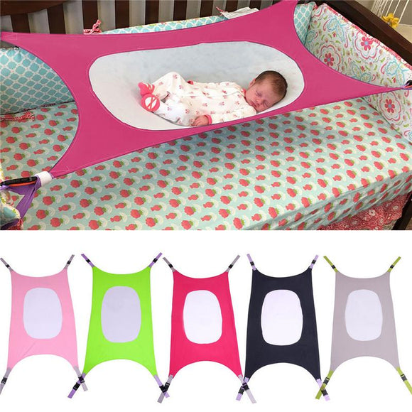 Infant Baby Hammock For Newborn Kid Sleeping Bed Safe Detachable Baby Cot Crib Elastic Hammock With Adjustable Net Dropshipping